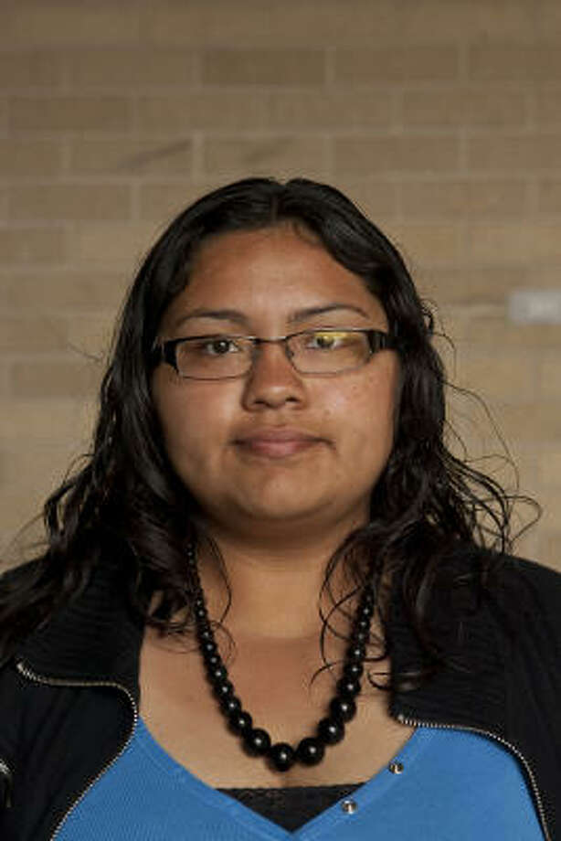 Eva Briones is majoring in psychology at the University of Houston. Photo: Nathan Lindstrom, For The Chronicle