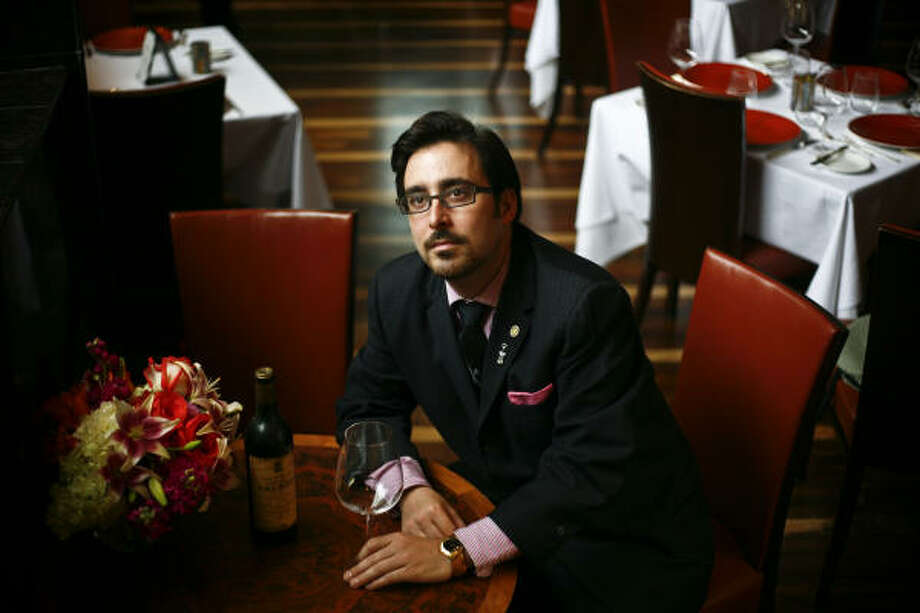 Tony's new sommelier, Jonathan Honefenger, was recently tabbed as one of the rising stars of the trade by Wine & Spirits magazine. Photo: MICHAEL PAULSEN :, Chronicle
