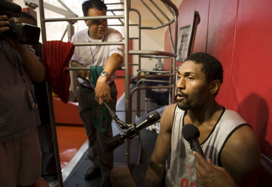 Ron Artest gives the Rockets an interest factor. Photo: Brett Coomer, Chronicle