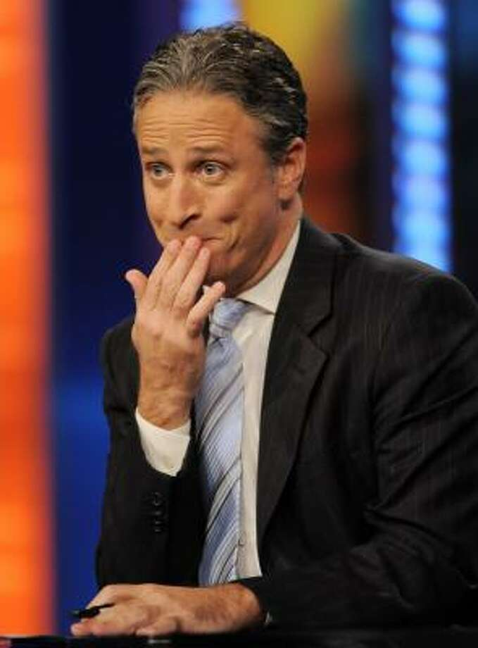 The Daily Show's Jon Stewart brushes off the claim that his brand of satire is rooted in theology or a wish to create social change. Photo: EVAN AGOSTINI:, ASSOCIATED PRESS