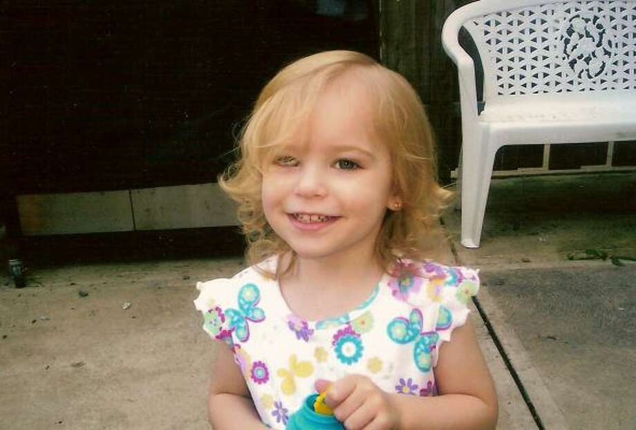 This undated file photo released by Sheryl Ann Sawyers shows her granddaughter Riley Ann Sawyers, 2, whose body washed ashore in a storage bin in Galveston Bay on Oct. 29, 2007. Photo: Associated Press