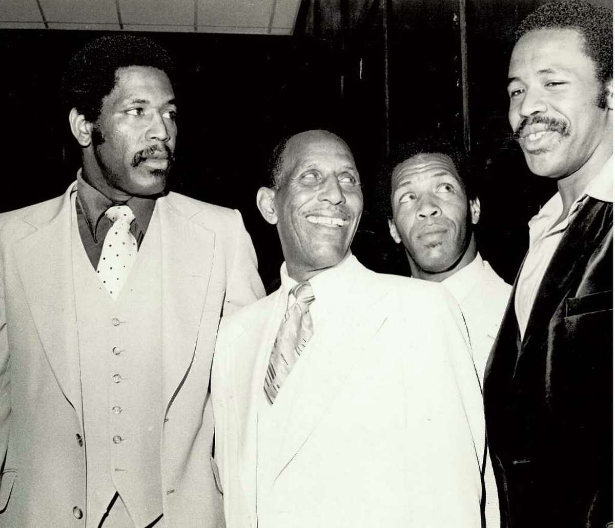 From left, Bubba Smith, WIllie Ray Smith Sr., Willie Ray Smith Jr., and Todya Smith. Enterprise file photo