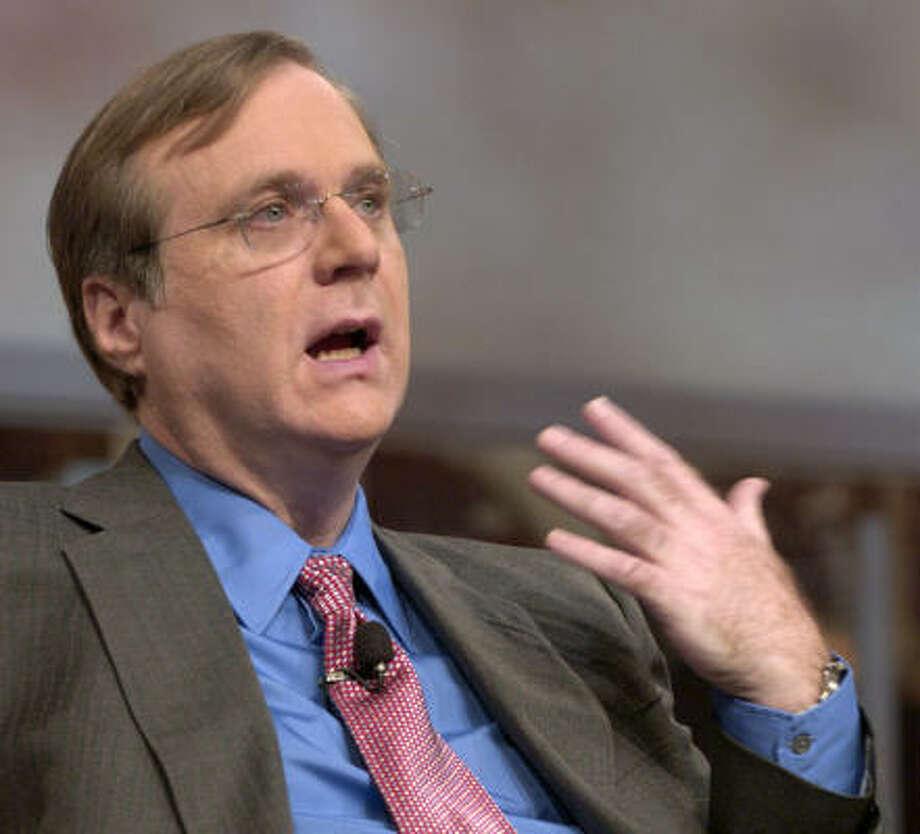Paul Allen Photo: SCOTT SALTZMAN, Bloomberg News