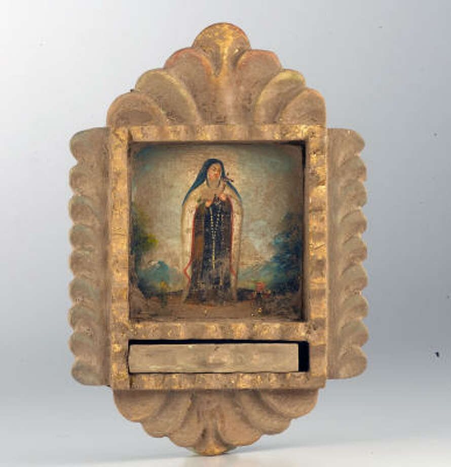 Saint Theresa Peruvian retablo, $95, from Tessera. Photo: James Nielsen, Chronicle