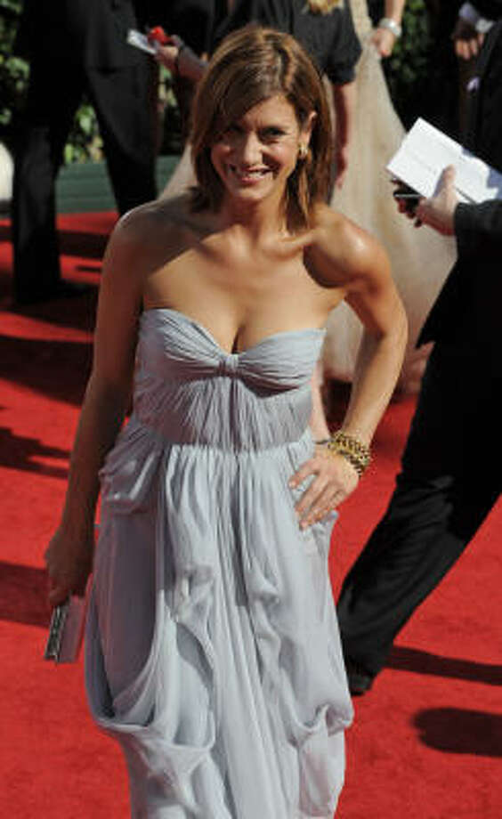 Actress Kate Walsh carried a $30 Aldo clutch to the Emmys. Photo: Chris Carlson, Associated Press
