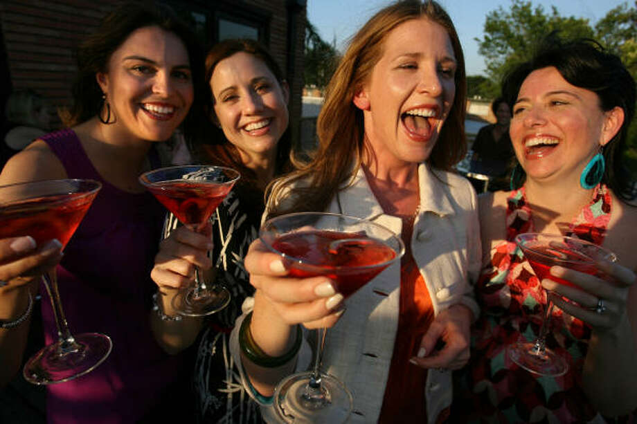 Katie Sakantakes Scallan, from left, Marcia Norrell, Betsy Archbold Roy and Laura Mayes at Benjy's. Photo: Chronicle File
