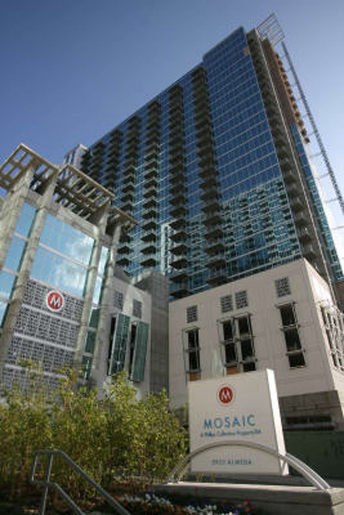 Developers of the Mosaic condo high-rise on Almeda near Hermann Park have filed for Chapter 11 protection.