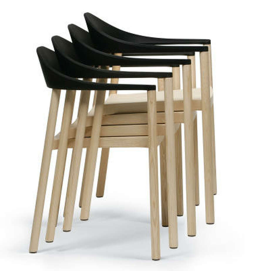 EUROPEAN STYLE: The Monza Armchair is an example of a stylish yet inexpensive stacking chair.