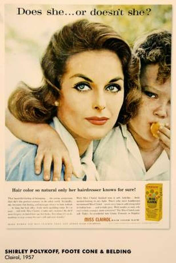 A well-known 1957 Clairol ad. Back then, dyes contained harsh chemicals. Photo: Kathy Willens, Associated Press