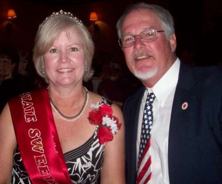 Darlene Crissamore of Katy is the new Texas Elks State Association State Sweetheart. With her is her husband Mike.