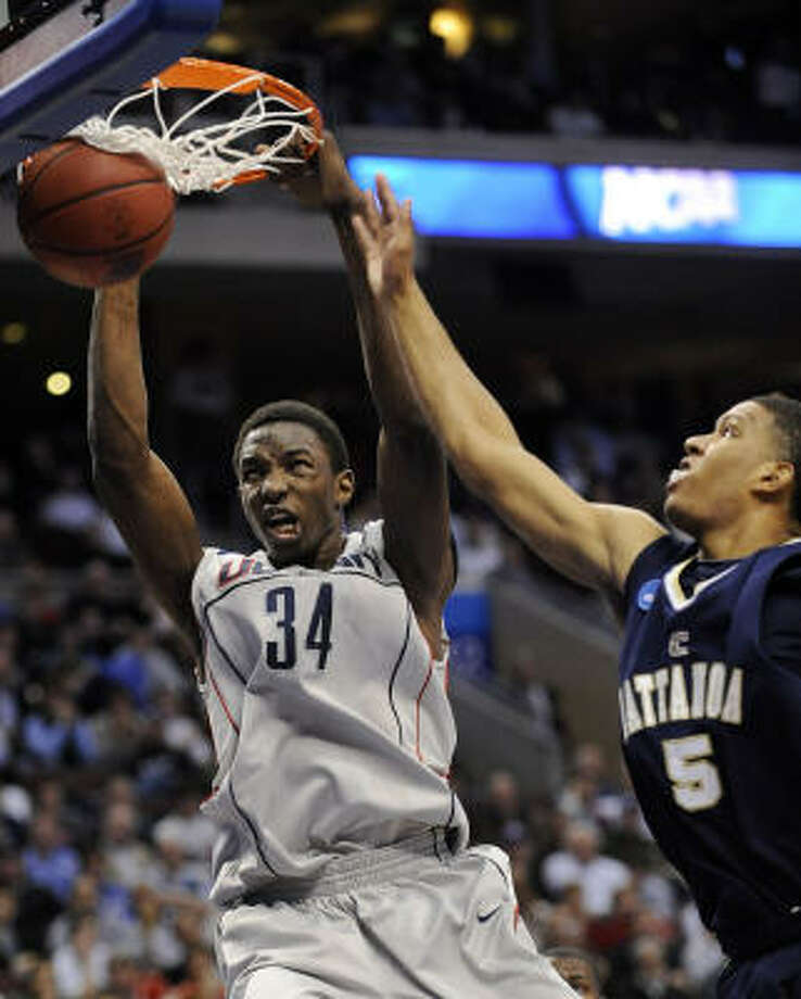 Cypress Christian alumnus Hasheem Thabeet (34) was the easy choice with the No. 2 overall pick by the Memphis Grizzlies. Photo: Michael Perez, AP