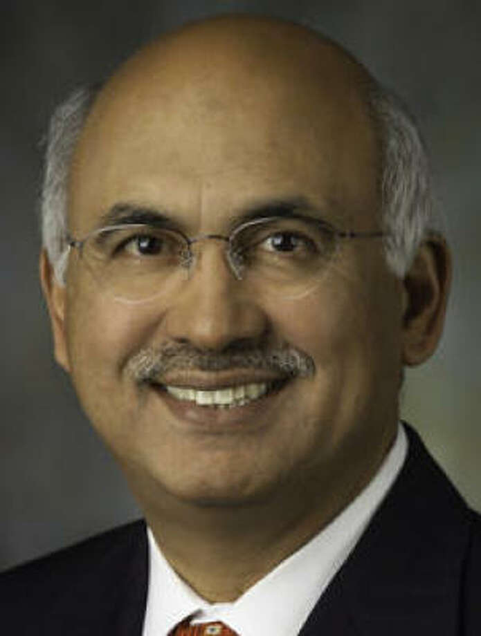 Candidate M.J. Khan touts his work on city finances as a council member. Photo: For The Chronicle