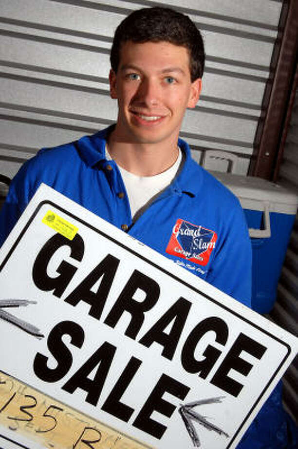 Kegan Blumenthal, 18, says that while most garage sales net $850 or so, some have raised as much as $2,200. He and his business partner store their supplies in a garage. Photo: Dave Rossman, Chronicle