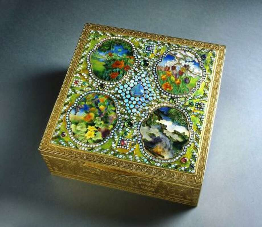 This Four Seasons jeweled box is part of the collection at the Charles Hosmer Morse Museum of American Art in Winter Park, Fla. Photo: Morse Museum Of American Art