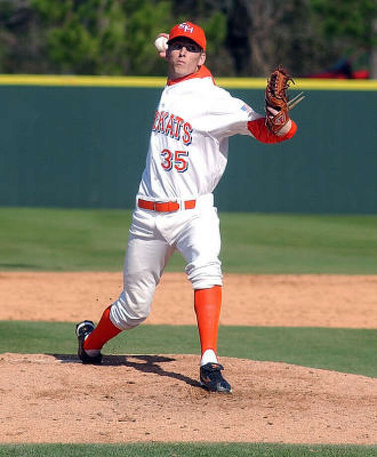Sean Weatherford had 12 strikeouts in five innings against Central Arkansas. Photo: Sam Houston State University