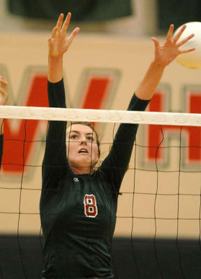 The Woodlands' junior middle blocker Katie Messing verbally committed to Pepperdine University last week. Photo: David Hopper, For The Chronicle