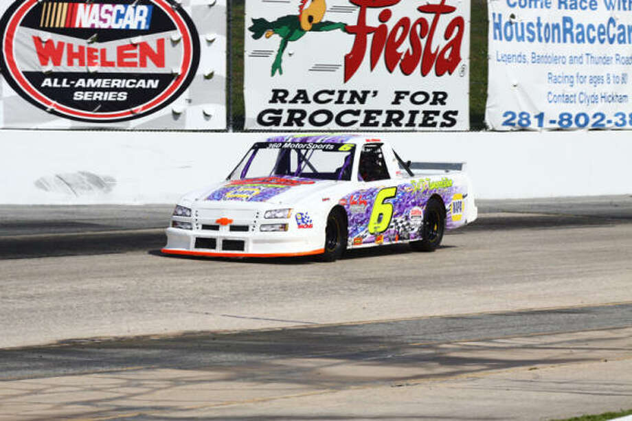 D.L. Wilson is on the verge of sweeping races in the Pro Truck class at Houston Motorsports Park. As long as he's not disqualified Saturday, Wilson will haul the title home. Photo: PHOTO COURTESY HOUSTON MOTORSPORTS PARK