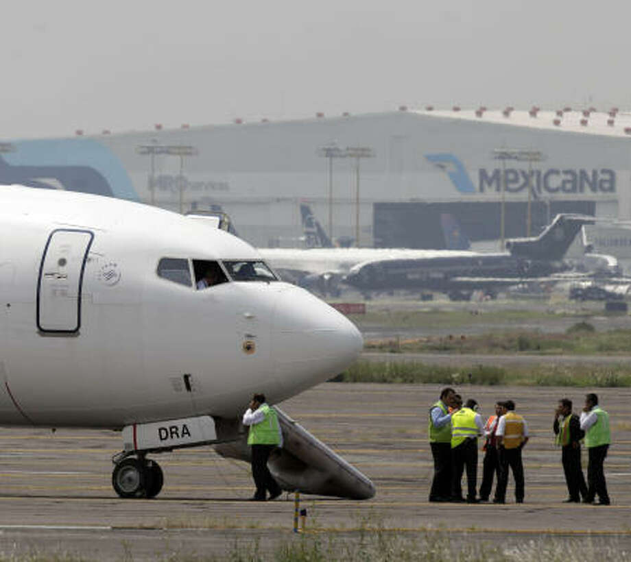 Mexican network TV Azteca says the plane was carrying 104 passengers. Photo: Gregory Bull, AP