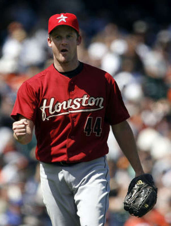 Roy Oswalt pitched 17 innings on this road trip, recording 30 outs between hits allowed at one point. Photo: Dino Vournas, AP