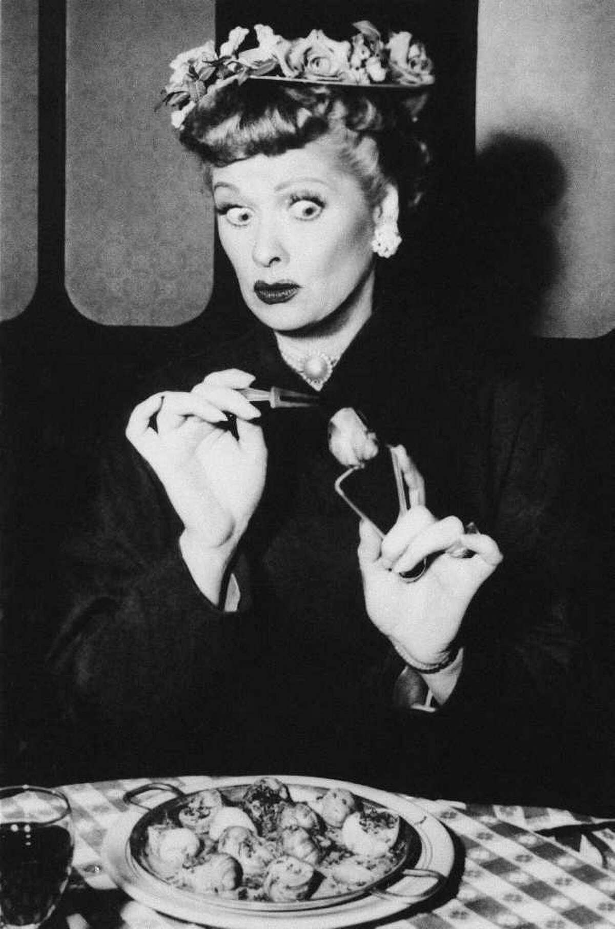"""In this undated TV image originally released by CBS, Lucille Ball is shown in a scene from her comedy series, """"I Love Lucy."""" Ball, who died on April 26, 1989, would have celebrated her 100th birthday on Saturday, Aug. 6, 2011. (AP Photo/CBS, file)"""
