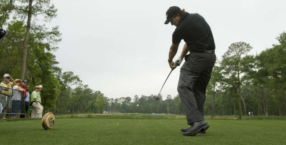 Phil Mickelson will play the Shell Houston Open for the second time, citing the Masters-like setup. Photo: Brett Coomer, Houston Chronicle
