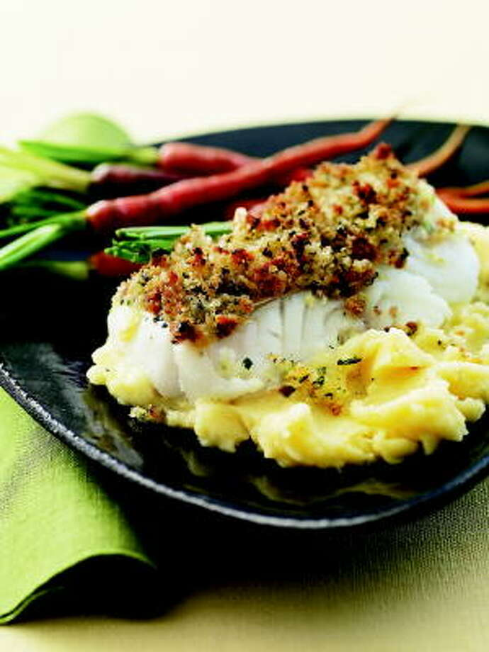 Citrus Cod With Cheddar-Sage Mashed Potatoes Photo: TINA RUPP