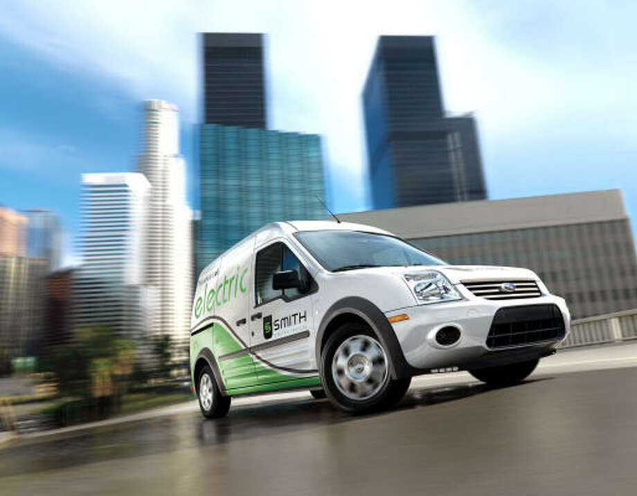 The Transit Connect BEV, Ford's first commercial electric vehicle — built in collaboration with Smith Electric Vehicles U.S. — will debut in the second half of 2010. It has a range of about 100 miles. Photo: Ford Motor Company
