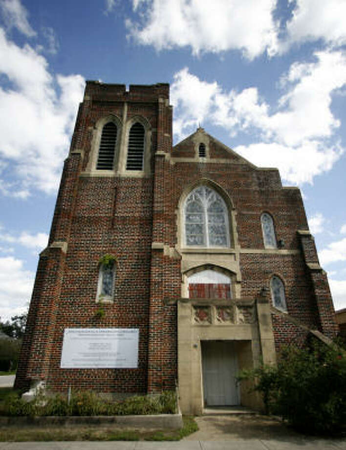 Officials at Immanuel Lutheran Church in the Heights say the 1932 Gothic Revival sanctuary could be torn down this summer if feasible plans to save it aren't proposed. Photo: Karen Warren, Houston Chronicle