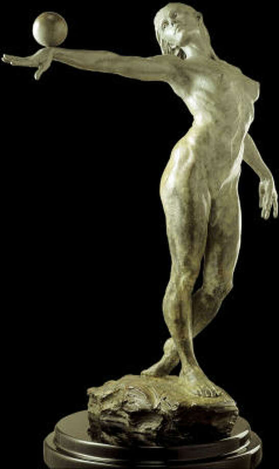 A bronze sculpture by Paige Bradley is also available at www.theredvault.com. Photo: Laura Rathe Fine Art