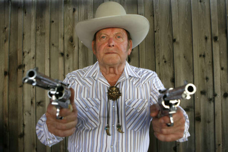 In his Wild West exhibitions, Joe Bowman could hit an aspirin tossed in the air and a playing card's edge from 50 paces. Photo: Carlos Antonio Rios, Houston Chronicle