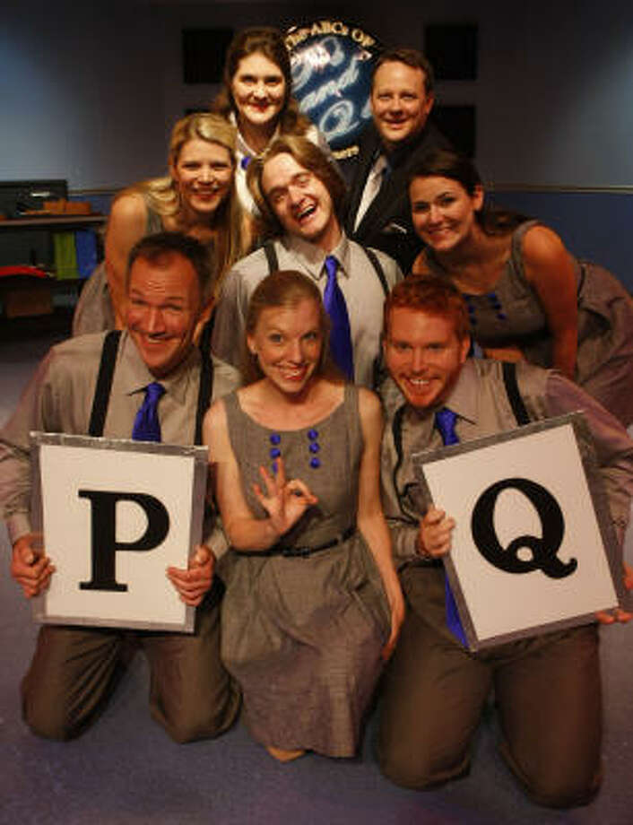Ps and Qs: The ABCs of Manners cast members include, from left, in top row, Shondra Marie and Chris Pool; center row, Julie Simpson Garcia, Micah Stinson and Chelsea Ryan McCurdy; and bottom row, Steve Bullitt, Susan Draper and Aaron Glover. Photo: JULIO CORTEZ, CHRONICLE