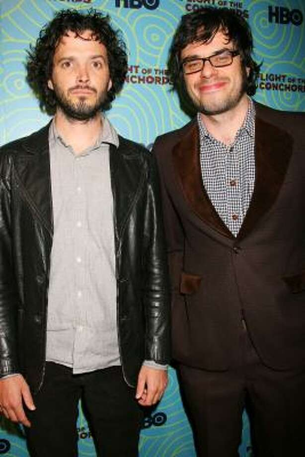 """""""Flight of the Conchords"""" stars Jemaine Clement, right, and Bret McKenzie are set to take a year-long break after wrapping the second series of their hit TV series. Photo: Dave Allocca, Associated Press"""