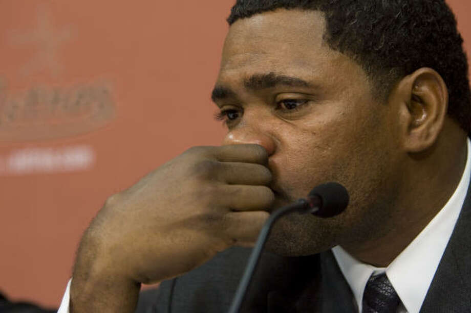 Astros shortstop Miguel Tejada shed some tears Wednesday when he apologized for lying to Congress. Astros owner Drayton McLane and general manager Ed Wade should have been crying as well, Richard Justice writes. Photo: Brett Coomer, Chronicle