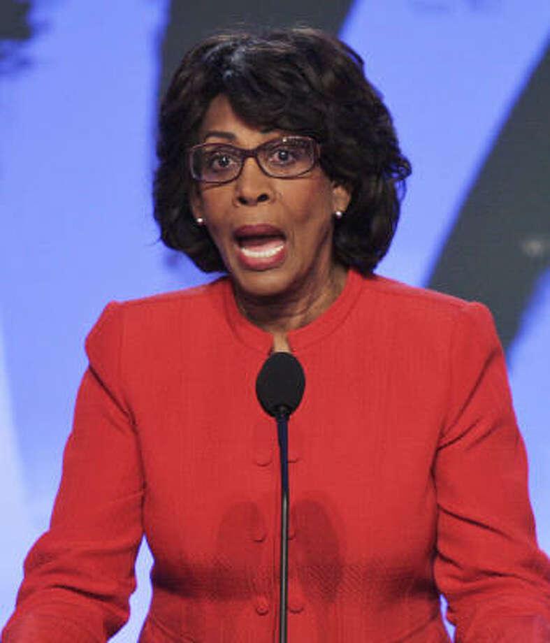 Rep. Maxine Waters, D-Calif. Photo: RON EDMONDS, Associated Press