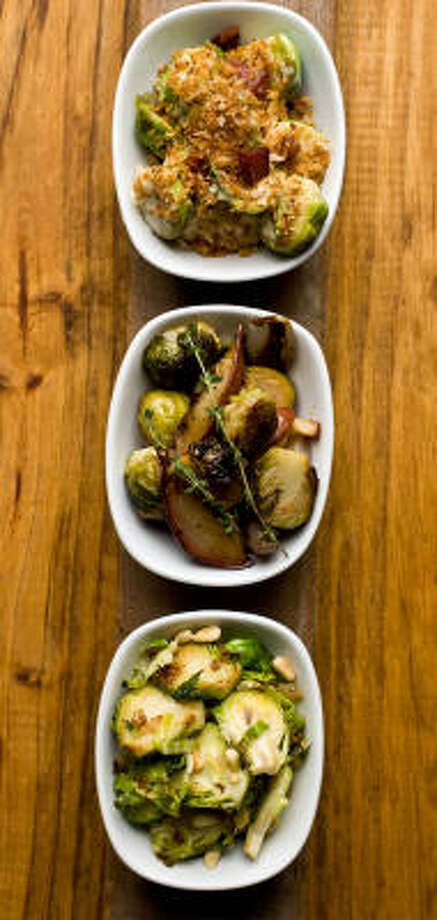 With the right preparation, brussels sprouts can be a far cry from the mushy, smelly bites many people are used to eating. Photo: NICK De La TORRE :, CHRONICLE