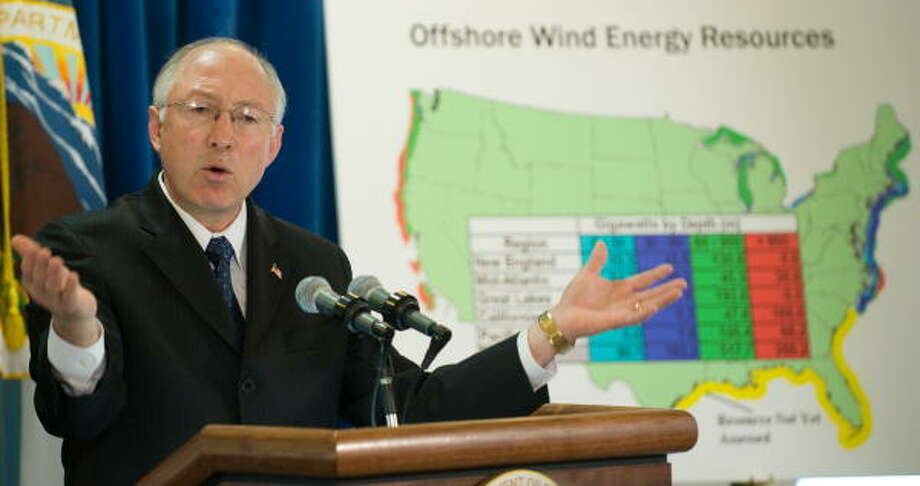 U.S. Secretary of the Interior Ken Salazar speaks in Washington, D.C., on Tuesday. Photo: SAUL LOEB, AFP/Getty Images