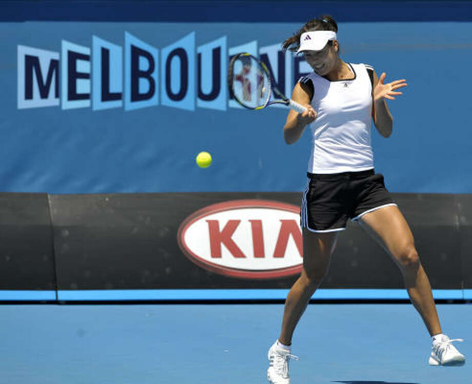 Fifth-seeded Ana Ivanovic was broken once in each set but fended off five other break points. Photo: ANTONY DICKSON, AFP/Getty Images