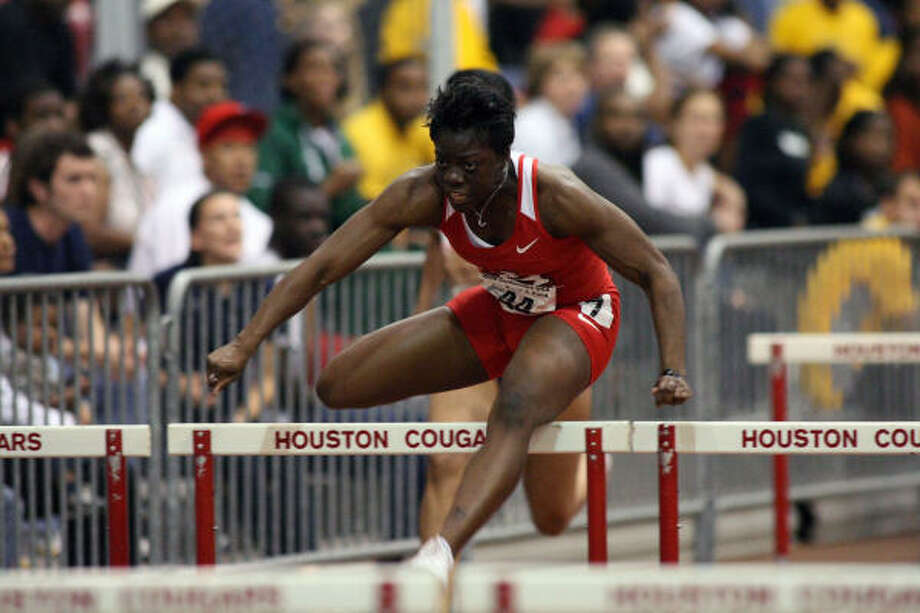Seun Adigun returned from a heart procedure and set the UH women's record in the 60-meter hurdles. Photo: University Of Houston