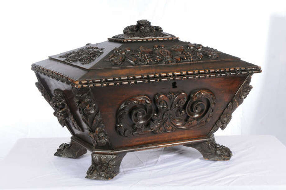 One of the items at the HADA show is an 18th-century French Wine Cellaret from Black Sheep.
