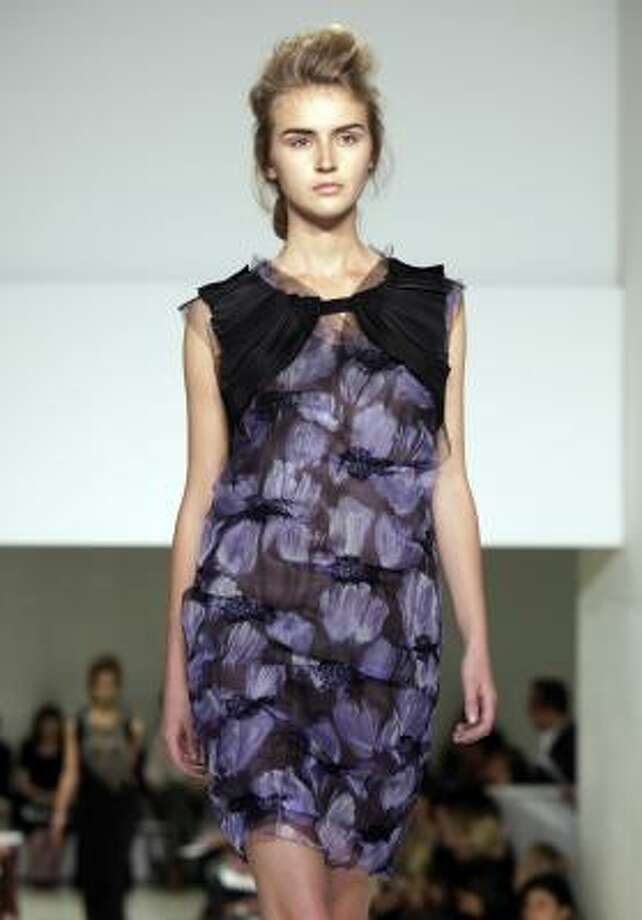 From Vera Wang's spring 2010 collection. Photo: Richard Drew, AP