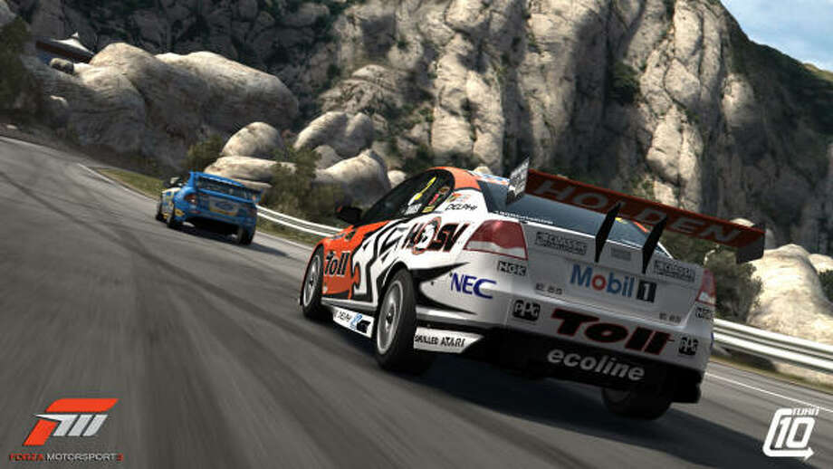 Racers can drive supercars like these in the Turn 10 game Forza 3. Photo: Turn 10