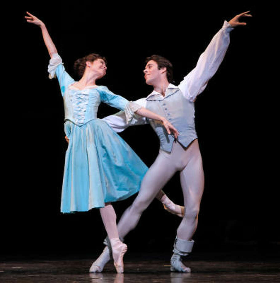 Amy Fote and Connor Walsh dance in a scene from the Houston Ballet's Manon. Photo: Amitava Sarkar