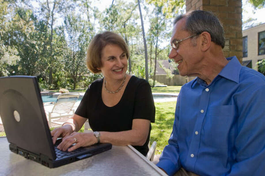 A WRITING TEAM: Judith Finkel, novelist and prize-winning author often gets input on her literary works from her husband, Howard. Photo: R. Clayton McKee, For The Chronicle
