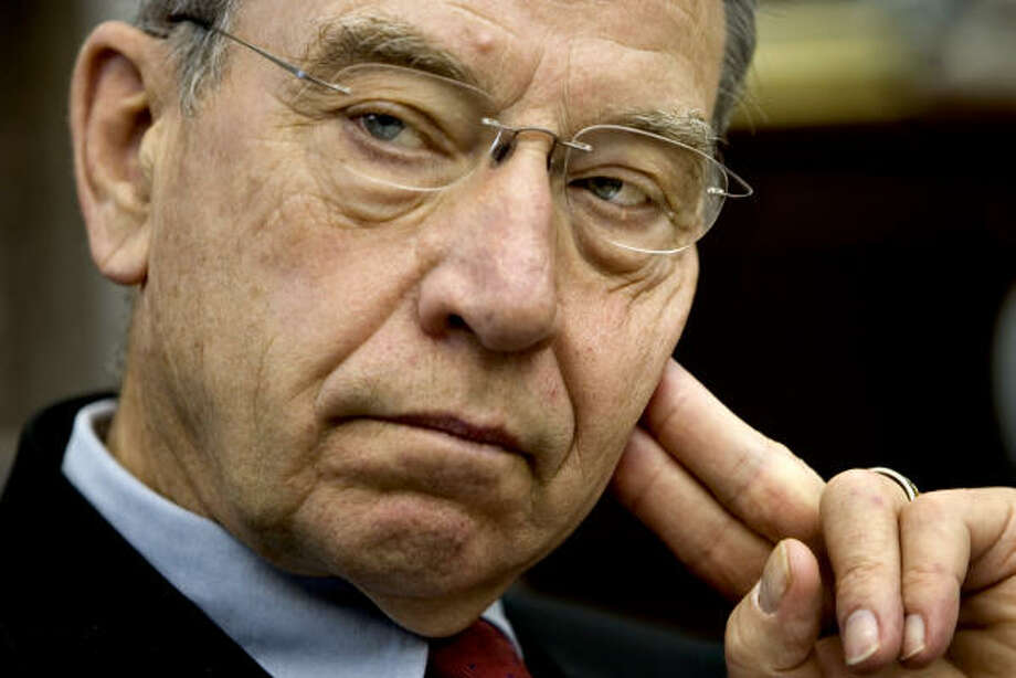 Sen. Charles Grassley, R-Iowa, wants Congress to reconsider new funding to the National Science Foundation amid allegations that top staffers spent long stretches of their day surfing the Internet for pornography. Photo: J. Scott Applewhite, AP