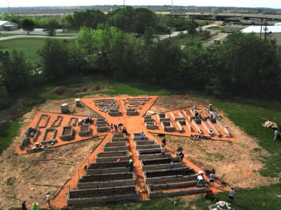 The new community garden at Katy Christian Ministries is shaped like a cross. Photo: Courtesy, Tom Gautier