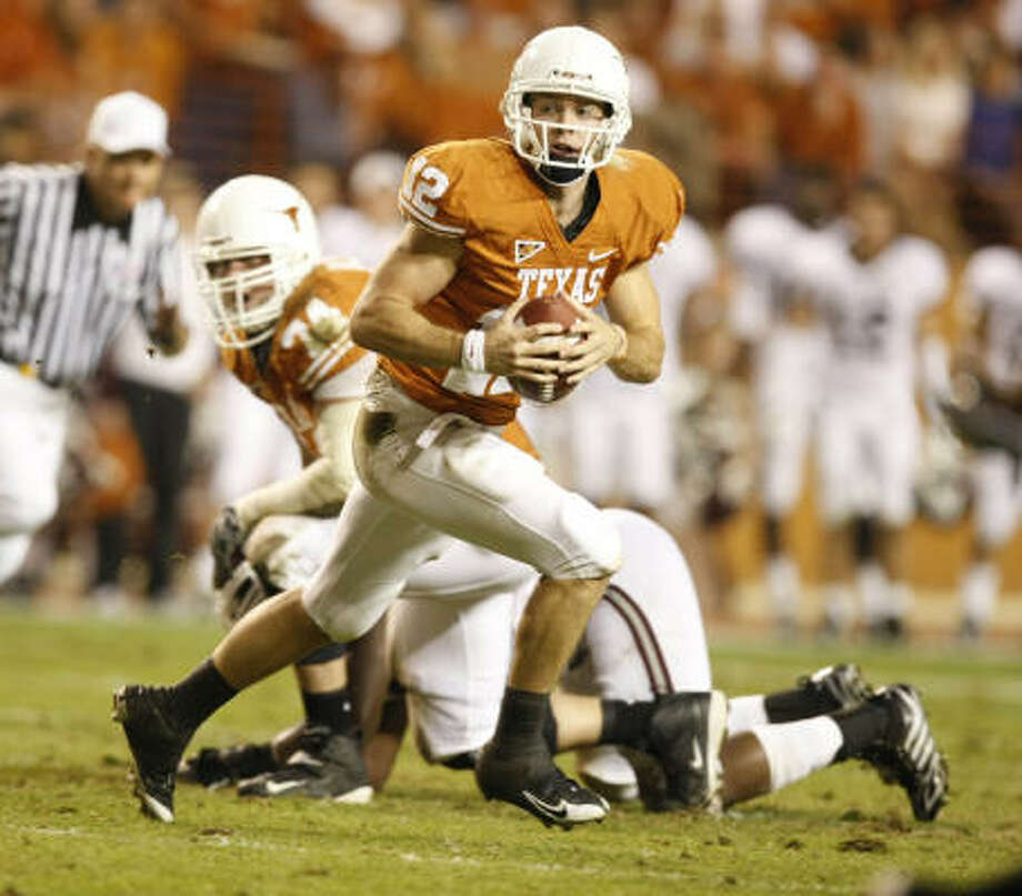 After returning from his second Heisman show with no hardware to show for it, Colt McCoy said he moved on. Photo: Nick De La Torre, CHRONICLE