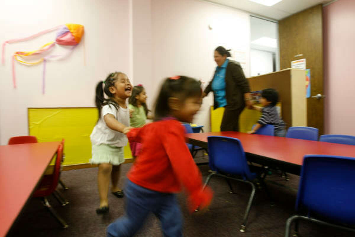 """Even preschool children of immigrants are included in classes at the nonprofit Houston Avance program, where their parents are taught that """"the home is the most important classroom."""""""