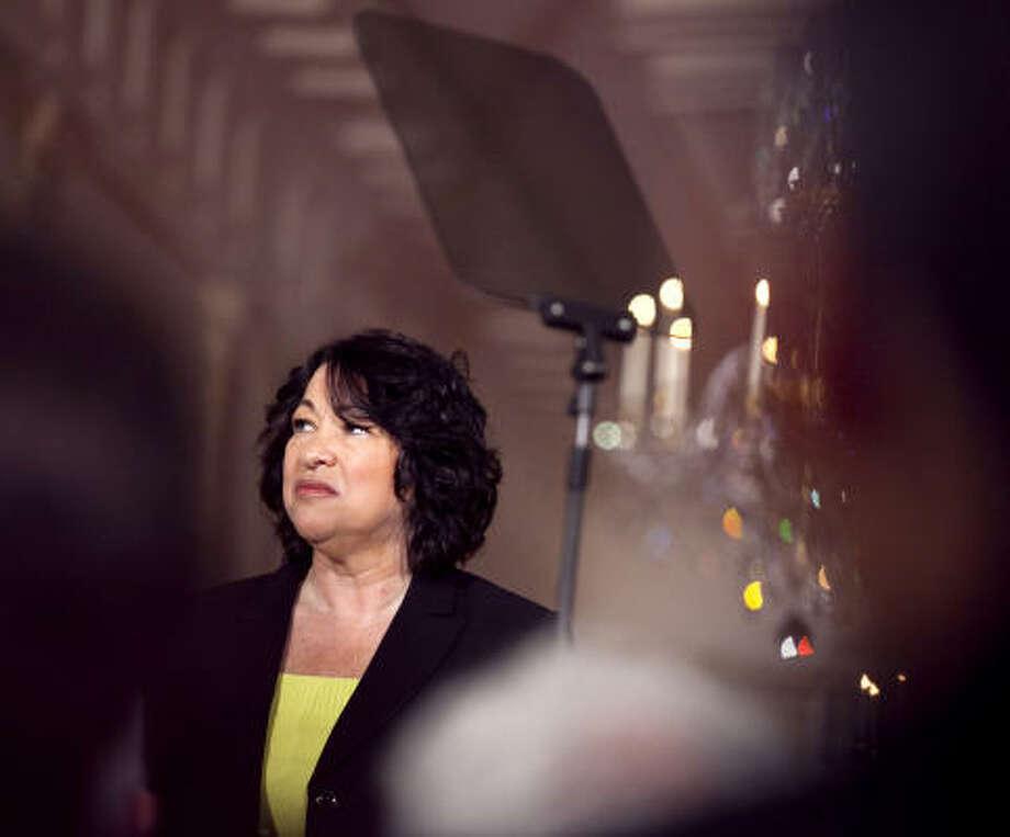Sonia Sotomayor earned $179,500 as a federal appellate judge in New York last year. Photo: BRENDAN HOFFMAN, BLOOMBERG NEWS