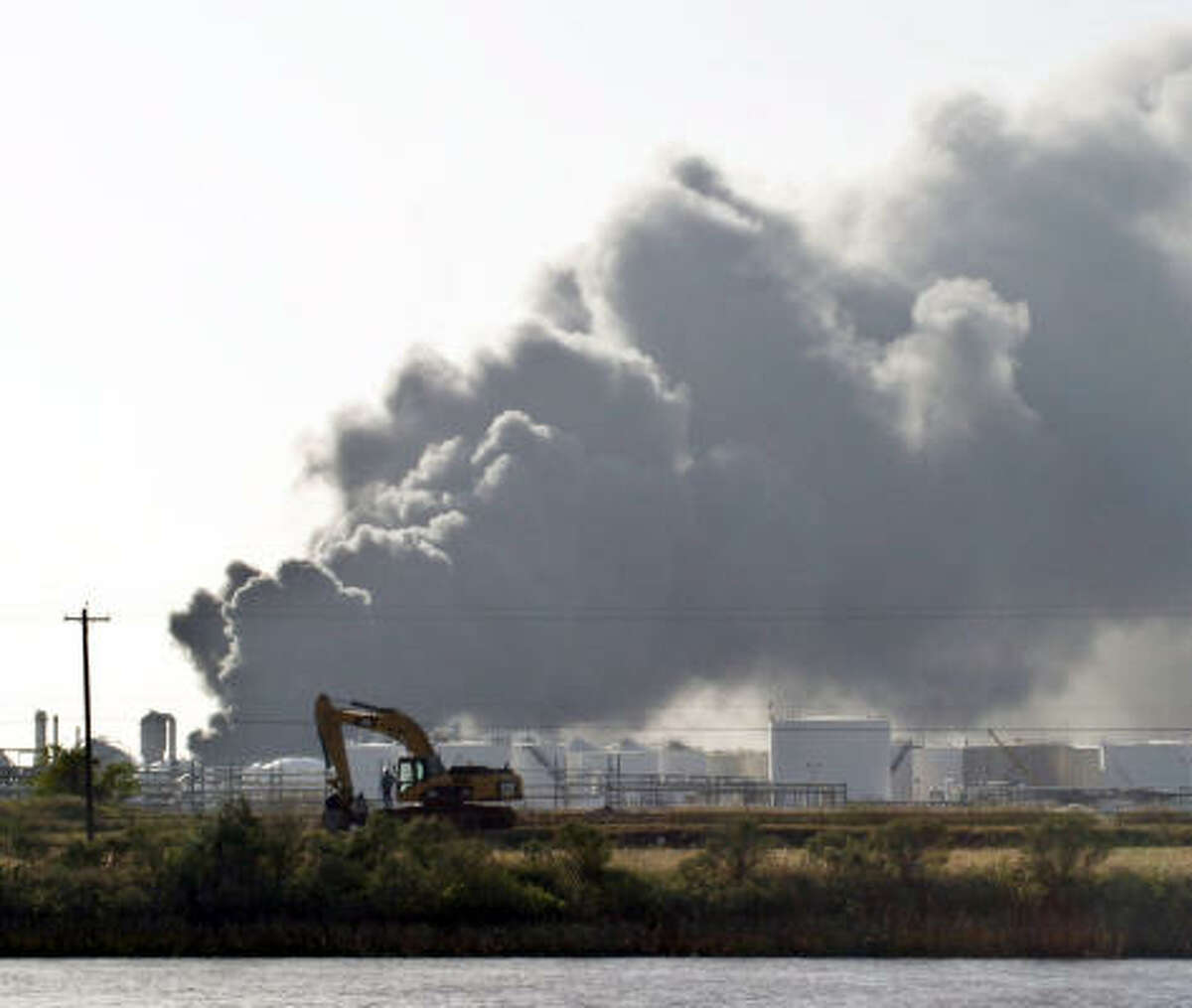 Wednesday's blast at the American Acryl plant in Seabrook sent a plume of smoke across the area.
