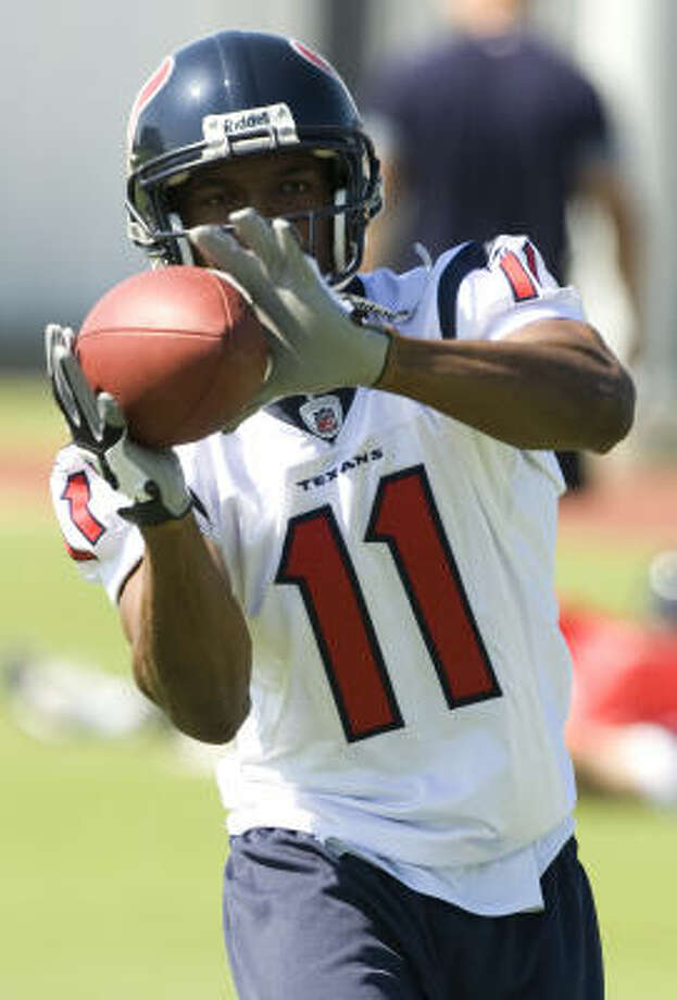 Andre' Davis' forte is his ability to break the big play. Photo: Brett Coomer, Houston Chronicle